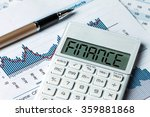 Small photo of finance concept:finance displayed on calculator