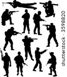 soldiers silhouettes   Shutterstock .eps vector #3598820