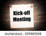 Small photo of Kick-off meeting Message.