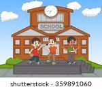 children singing in front of... | Shutterstock . vector #359891060