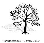 silhouette tree with shadow  ... | Shutterstock .eps vector #359892110