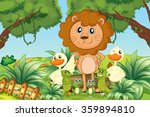 wild animals in the jungle... | Shutterstock .eps vector #359894810