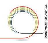 logo design . movement stripes. ... | Shutterstock .eps vector #359904266
