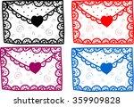 set of love valentine message... | Shutterstock .eps vector #359909828