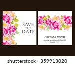 romantic invitation. wedding ... | Shutterstock . vector #359913020