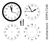 clock icon   vector  set | Shutterstock .eps vector #359917148