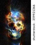 Skull And Fractal Effect. Color ...