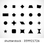 geometric shapes set vector | Shutterstock .eps vector #359921726