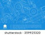 vector technical blueprint of...   Shutterstock .eps vector #359925320