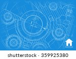 vector technical blueprint of... | Shutterstock .eps vector #359925380