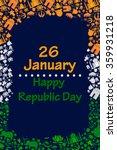 happy republic day of india in... | Shutterstock .eps vector #359931218