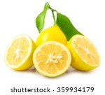 fresh lemon isolated | Shutterstock . vector #359934179