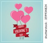 heart balloon with typography... | Shutterstock .eps vector #359934824