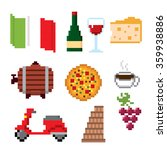 italy culture symbols icons set.... | Shutterstock .eps vector #359938886