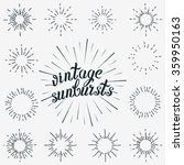 vintage element vector set.... | Shutterstock .eps vector #359950163