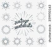 vintage element vector set.... | Shutterstock .eps vector #359950163