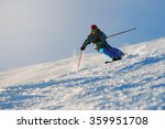 Skier In Mountains  Prepared...