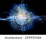 network unit  series. abstract... | Shutterstock . vector #359955284