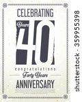 anniversary retro vintage... | Shutterstock .eps vector #359955398
