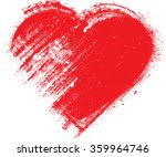 Stock vector set of hearts grunge stamps collection love shapes for your design distressed symbols textured 359964746