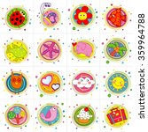 cute icons  colorful cute icon...   Shutterstock .eps vector #359964788