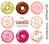 collection of glazed colored... | Shutterstock .eps vector #359966738