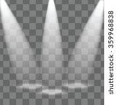 studio and rays of light... | Shutterstock .eps vector #359968838