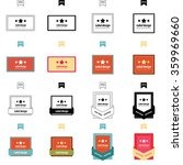 set of label design 4 styles | Shutterstock .eps vector #359969660