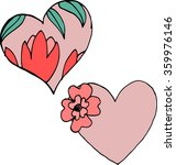 valentine day heart ornament | Shutterstock .eps vector #359976146