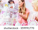 best friends on baby shower... | Shutterstock . vector #359991770