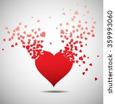 heart with burst effect  vector ... | Shutterstock .eps vector #359993060