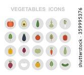 vegetables icons. vector... | Shutterstock .eps vector #359995376