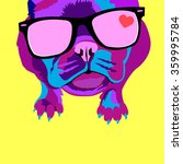 dog vector breed cute pet... | Shutterstock .eps vector #359995784