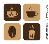 cup of cofee    vector icon  set | Shutterstock .eps vector #359998649