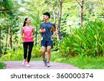 asian chinese man and woman... | Shutterstock . vector #360000374