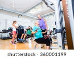 senior woman doing back... | Shutterstock . vector #360001199