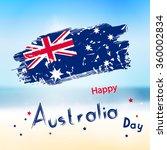 australia day with grange flag... | Shutterstock .eps vector #360002834