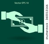 transfer money from hand to... | Shutterstock .eps vector #360013166