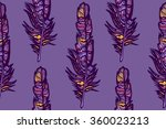feather seamless pattern | Shutterstock .eps vector #360023213