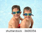 boys in goggles | Shutterstock . vector #3600356