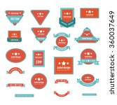 set of label design red and... | Shutterstock .eps vector #360037649