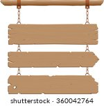 wild west hanging signs | Shutterstock .eps vector #360042764