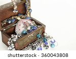 box with jewelry. ring ... | Shutterstock . vector #360043808