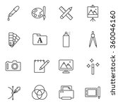 graphics and design icons set | Shutterstock .eps vector #360046160