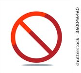 the censor mark. no sign. red... | Shutterstock .eps vector #360046460