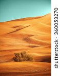 sundown over desert landscape....   Shutterstock . vector #360053270