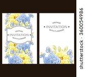 vintage delicate invitation...   Shutterstock . vector #360054986