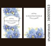 vintage delicate invitation...   Shutterstock . vector #360055013