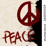 Vintage Grunge Peace Sign Wall...