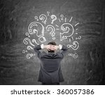 man  with hands on his head... | Shutterstock . vector #360057386